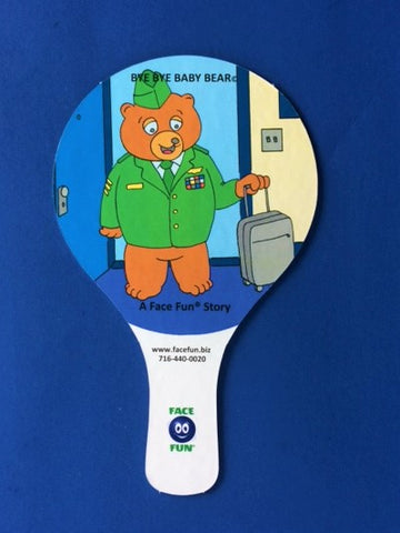 FLASHCARD STORY PADDLES - BYE, BYE BABY BEAR - ENGLISH