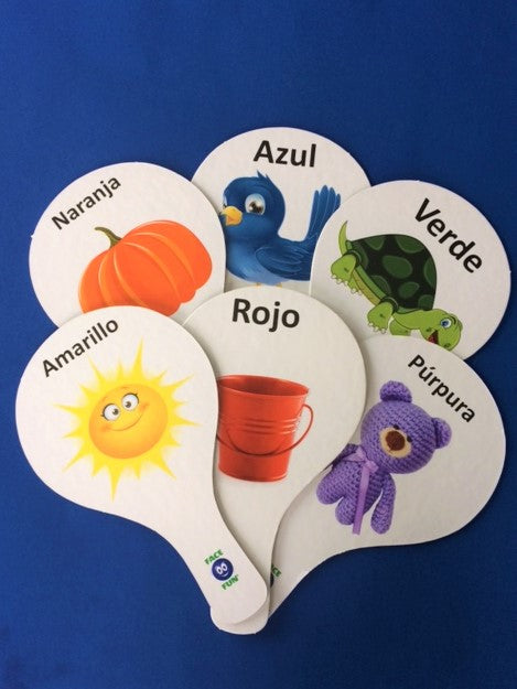 COLORS FLASHCARD TEACHING PADDLES - SPANISH
