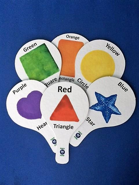 SHAPES FLASHCARD TEACHING PADDLES - ENGLISH