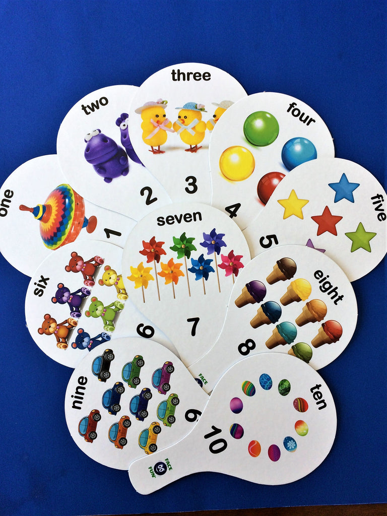 NUMBERS FLASHCARD TEACHING PADDLES - ENGLISH