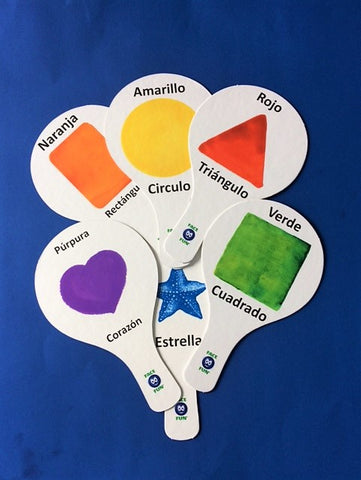 SHAPES FLASHCARD TEACHING PADDLES - SPANISH