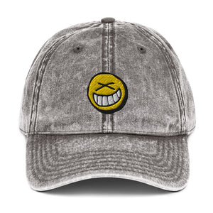 Smiley Vintage Cotton Dad Hat