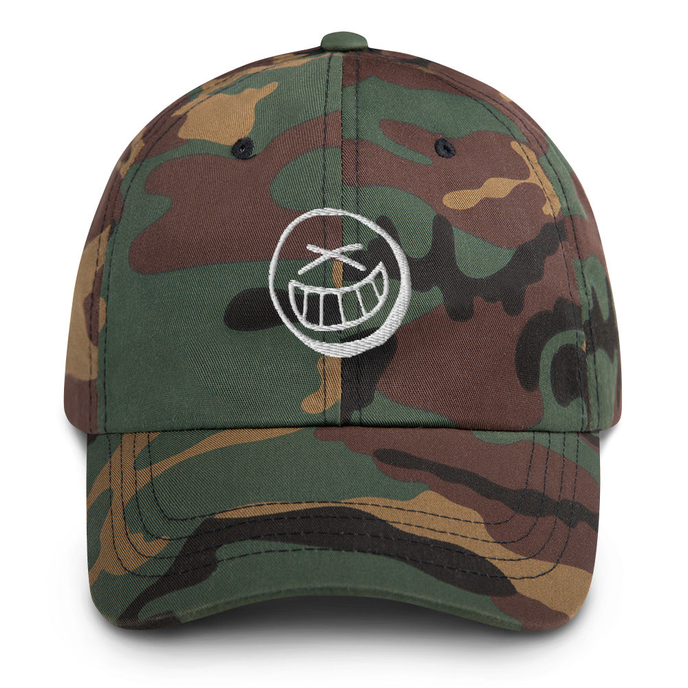 Smiley Camo Dad hat
