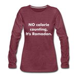 Load image into Gallery viewer, Women's Premium Long Sleeve T-Shirt - heather burgundy
