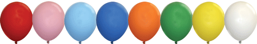 Standard 9-inch Balloon Colors