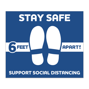 Social Distancing Stickers - Square