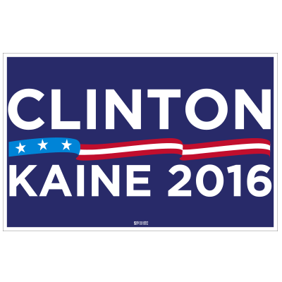 Clinton Kaine Rally Sign
