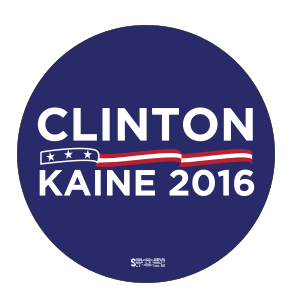 Clinton Kaine Roll Label Lapel Stickers