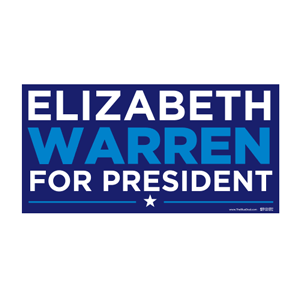 "Elizabeth Warren 2016 Bumper Sticker (3.75"" x 7.5"")"
