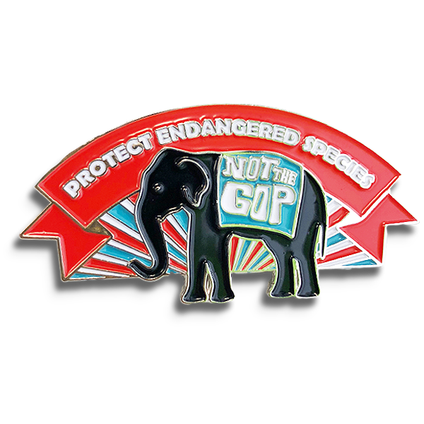 Protect Endangered Species Lapel Pin