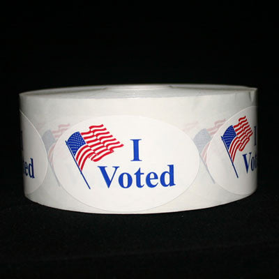 I Voted Roll Label Lapel Stickers