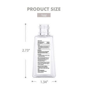 USA Made 1 Ounce Hand Sanitizer Back