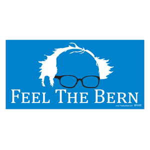 Feel the Bern Black Glasses Bumper Sticker