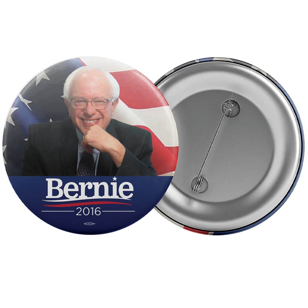 "Bernie Sanders for President 2016 Photo Button (2.25"")"