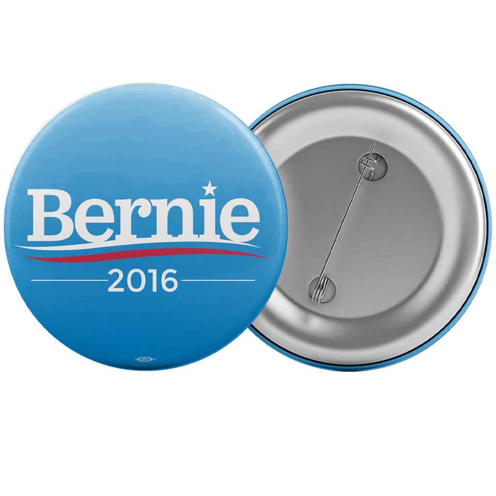 "Bernie Sanders for President Blue Campaign Button (2.25"")"