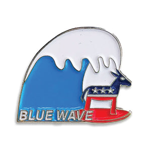 Blue Wave Lapel Pin