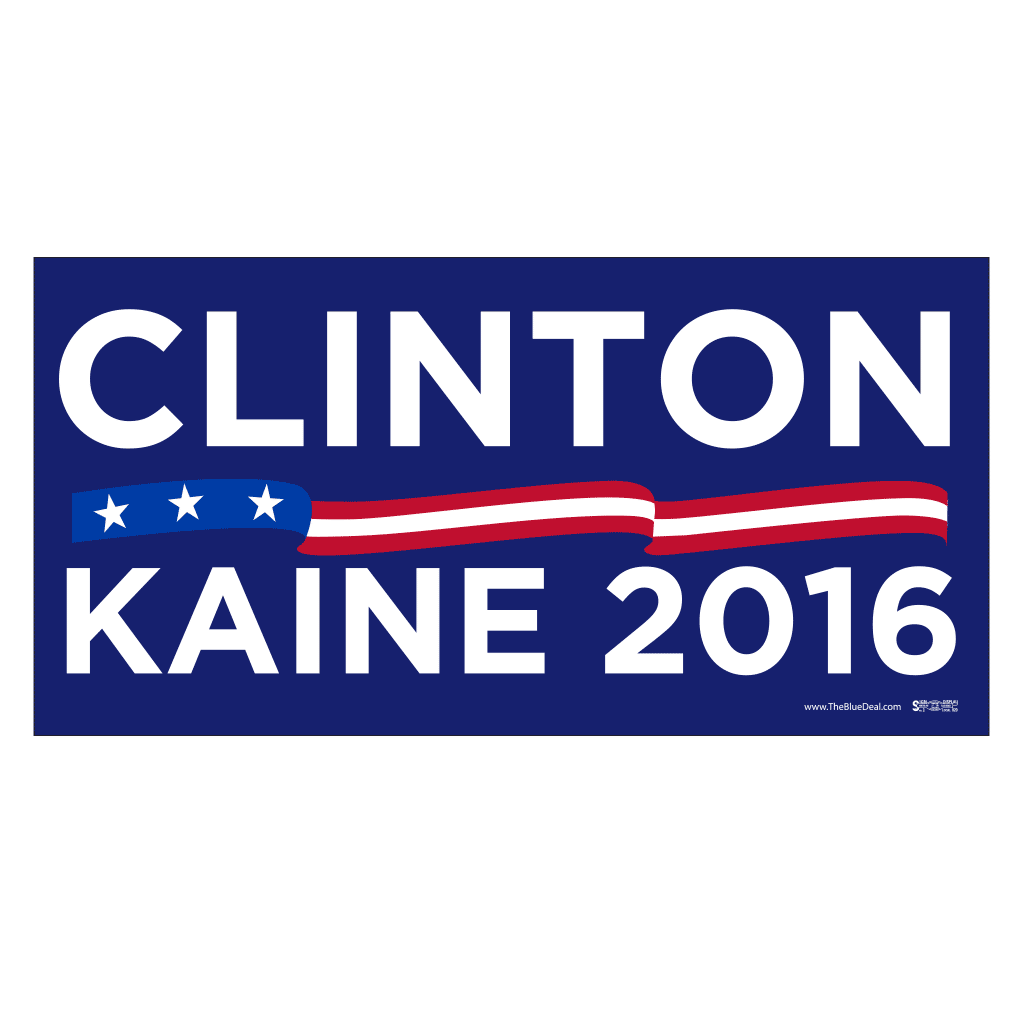 Clinton Kaine 2016 Blue Bumper Sticker