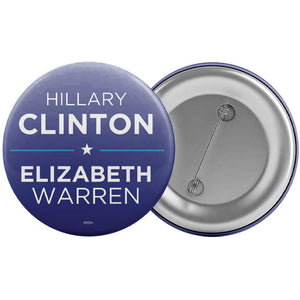 Clinton / Warren 2016 Button