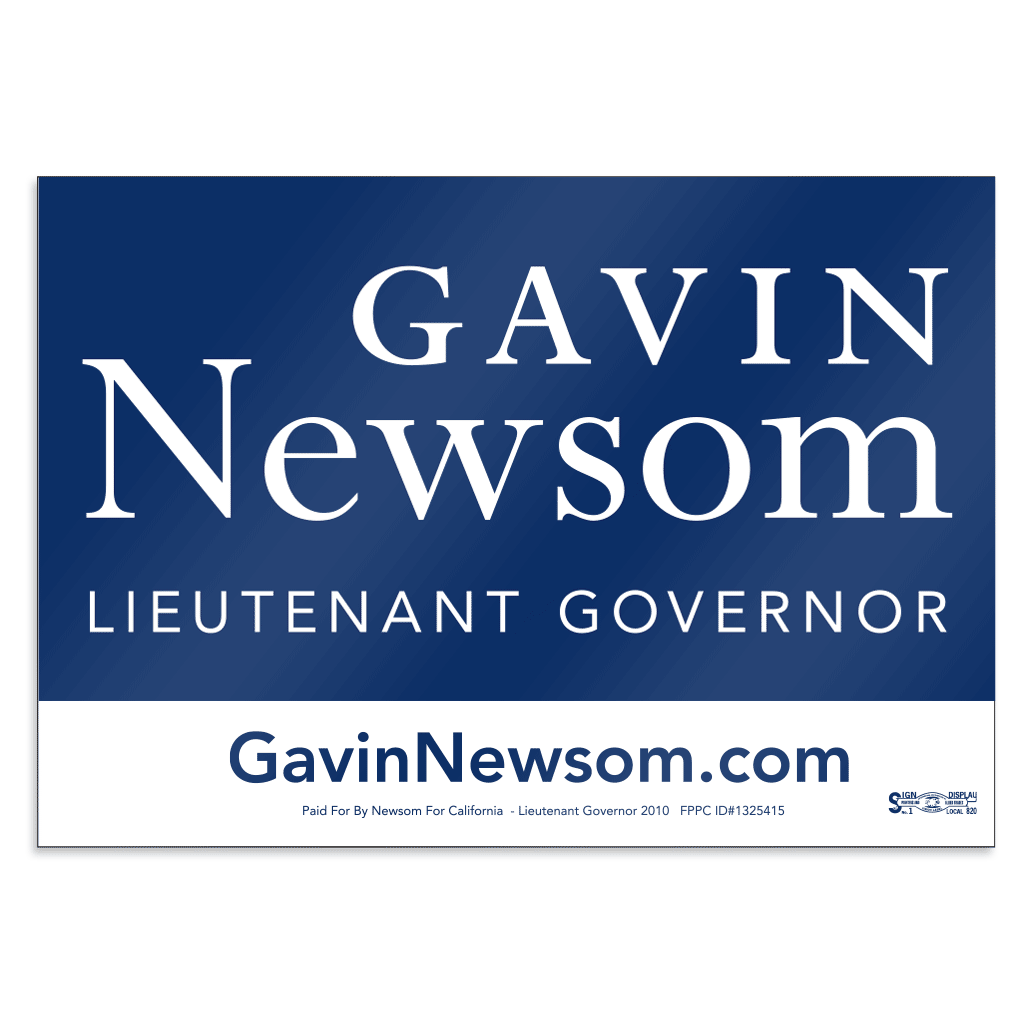 "Union Printed Double-Sided Campaign Rally Signs (14"" x 22"")"