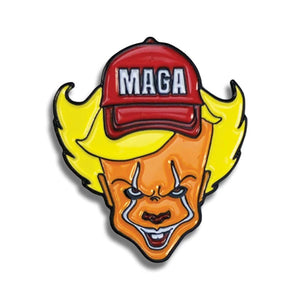 Trump MAGA Evil Clown Lapel Pin