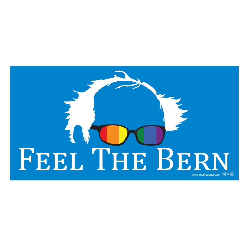 Feel the Bern Rainbow Bumper Sticker