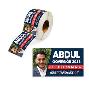 Union Printed Campaign Roll Labels - Full Color