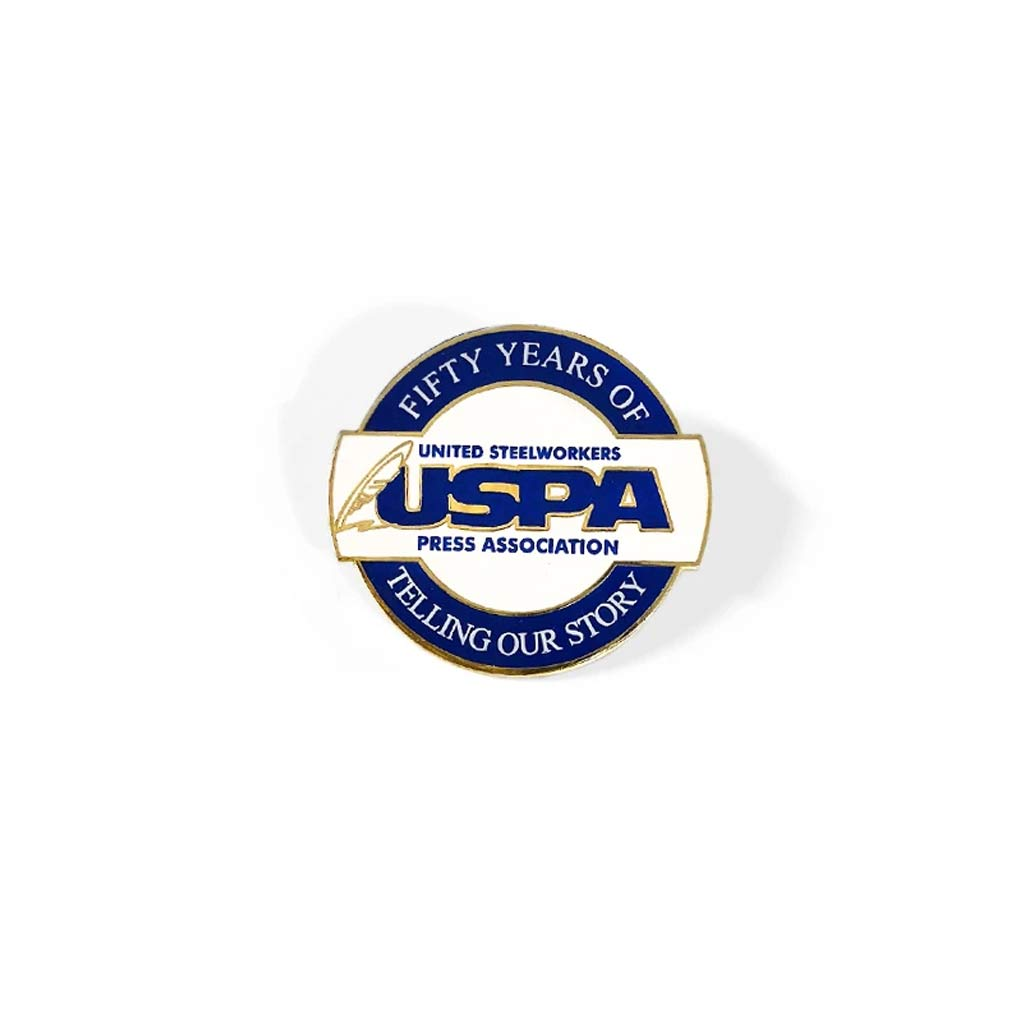 Union Made & USA Made Hard Enamel Lapel Pin