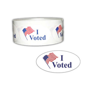 I Voted Roll of 500 Stickers
