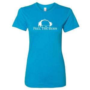 Feel The Bern Ladies' Teal T-Shirt