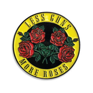 Less Guns More Roses Lapel Pin