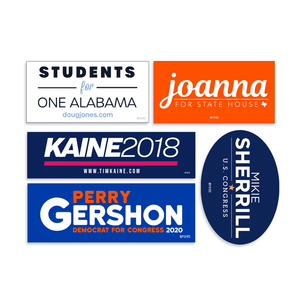 Union Printed Standard Bumper Stickers