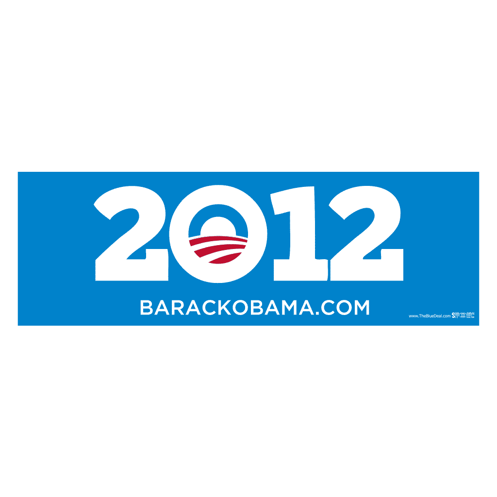 Obama 2012 Blue Bumper Stickers