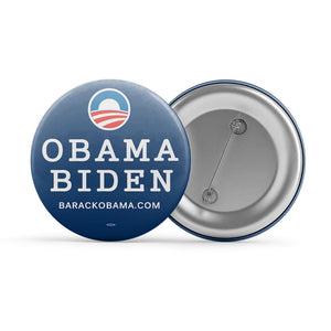 "Navy Blue Obama Biden Button (2.25"" Round)"