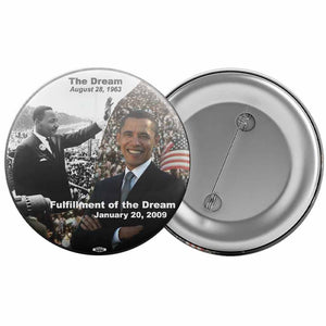 "President Obama / MLK 2009 Inaugural Button (2.25"" Round)"