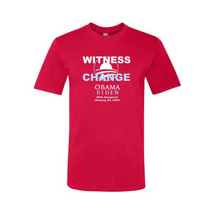 Union Printed Obama Witness to Change Short Sleeve Red Tee