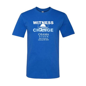 Union Printed Obama Witness to Change Short Sleeve Royal Tee
