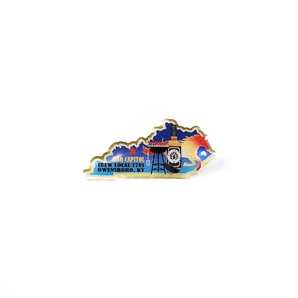 Union Made Campaign Photo Lapel Pin with Epoxy Dome
