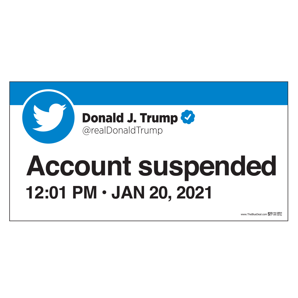 Union-Printed Twitter Suspends Trump Bumper Sticker