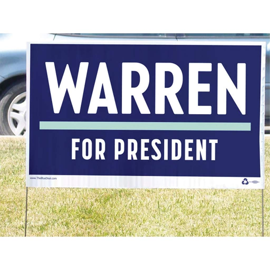 Elizabeth Warren for President Yard Sign