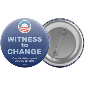Union Printed Obama Witness to Change Button