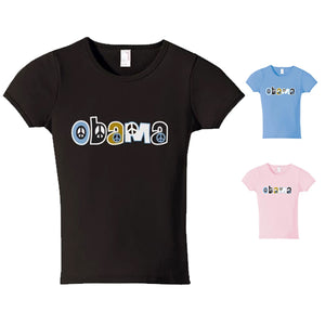 Obama Peace Sign Short Sleeve T-Shirt - Ladies'