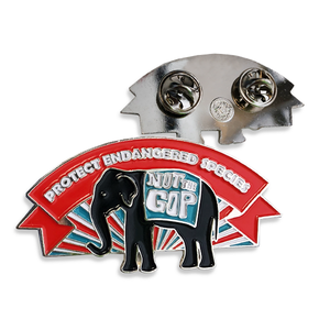 Union Made Protect Endangered Species Lapel Pin