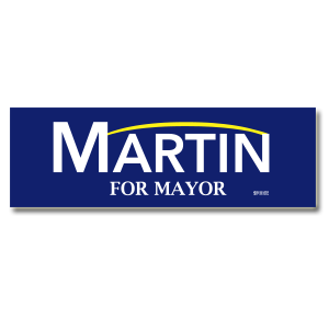 "Union Printed Bumper Stickers (3.75"" x 11.5"")"