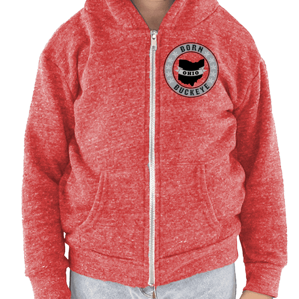 Toddler Banner State Red Hoodie