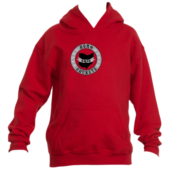 Youth Banner State Red Pullover Hoodie