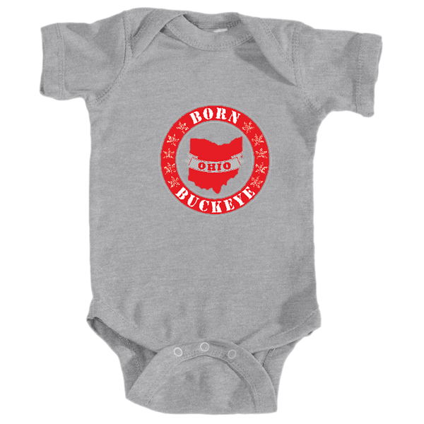 Infant Onesie Banner State Gray