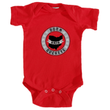 Infant Onesie Banner State Red