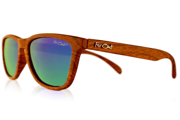 Wood Grain Brown Polarized Premiums Green Lens