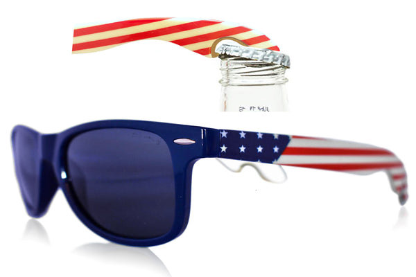 American Flag Bottle Opener Sunglasses