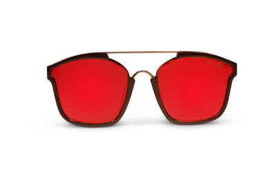 Black Polarized Bomboras Red Lens